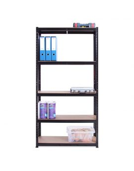 180cm x 90cm x 45cm, Black 5 Tier (175KG Per Shelf), Total 875KG Weight Capacity