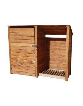 Wooden Tool Store 4Ft or 6Ft (2.3m³ / 3.3m³ capacity) (W-227cm, H-126cm / 180cm, D-81cm)