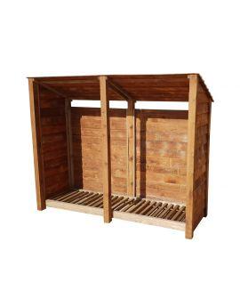 Wooden Log Store 4Ft or 6Ft (2.3m³ / 3.3m³ capacity) (W-227cm, H-126cm / 180cm, D-81cm)