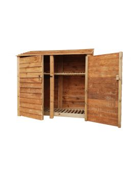 Wooden Log Store 4Ft or 6Ft (1.9m³ / 2.7m³ capacity) (W-187cm, H-126cm / 180cm, D-81cm)