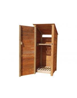 Wooden Log Store 4Ft or 6Ft (0.9m³ / 1.1m³ capacity) (W-79cm, H-126cm / 180cm, D-81cm)