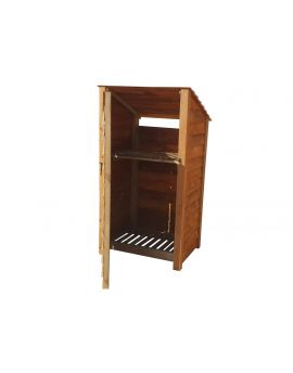 Wooden Log Store 4Ft or 6Ft (1m³ / 1.4m³ capacity) (W-99cm, H-126cm / 180cm, D-81cm)