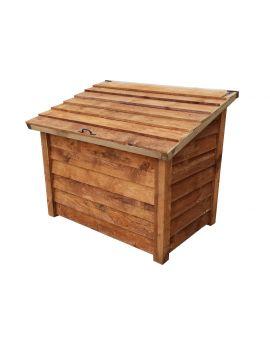Wooden Log Chest Storage (1.14 cubic meters capacity) (W-127cm, H-104cm, D-87cm)