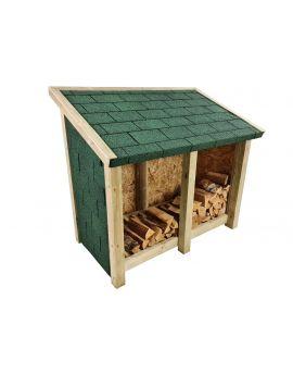 Delux146 Double Bay 4ft Wooden Outdoor Log Store