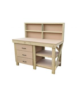 Wooden MDF Tool Cabinet Workbench With Storage Shelf