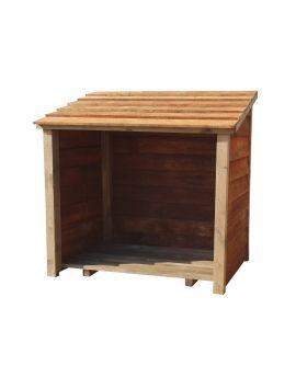 Wooden Log Store (1 cubic meter capacity) (W-119cm, H-118cm, D-71cm)