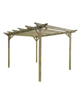 Sculpted Wooden Garden Pergola Kit - Large Range of Sizes