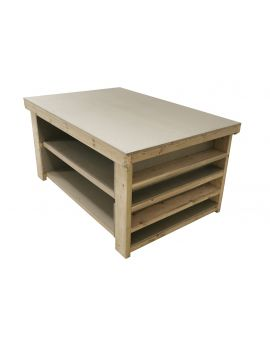 Wooden Workbench with Extra shelving 3ft and 4ft depth - 18mm uniMDF Moisture Resistant Top