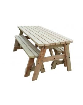 VICTORIA COMPACT Rounded Space Saving Picnic Table & Benches Set