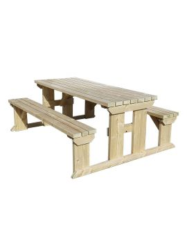 Abies Picnic Table & Benches Set