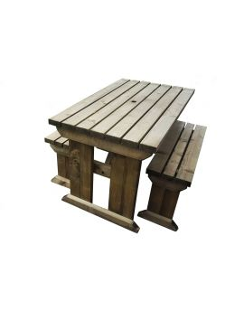 Yews Space Saving Picnic Table Benches Set