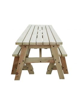 VICTORIA COMPACT Space Saving Picnic Table & Benches Set