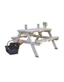 Rounded Classic Pub Style 4Ft Picnic Bench and Table
