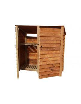 Wooden Log Store 4Ft or 6Ft (1.9m³ / 2.7m³ capacity) (W-187cm, H-126cm / 180cm, D-81cm)