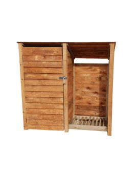 Wooden Tool Store 4Ft or 6Ft (1.9m³ / 2.7m³ capacity) (W-187cm, H-126cm / 180cm, D-81cm)
