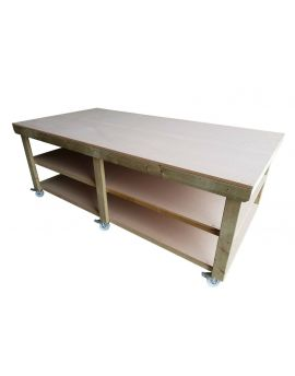 Wooden MDF Top Workbench with Wheels 3ft and 4ft Depth