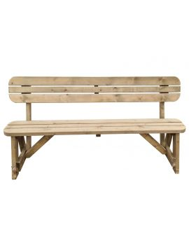 Victoria Rounded Bench With Back-Rest