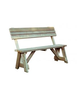 Victoria Garden Seat with Back Rest