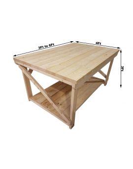 Wooden Super Heavy Duty Indoor / Outdoor Workbench - 3ft and 4ft Depth