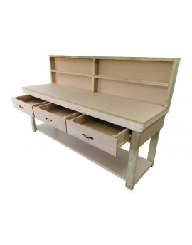 Wooden MDF Top Workbench With Drawers