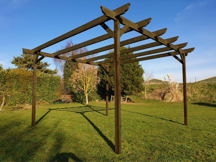 Wooden Garden Pergola Kit 42 Different Sizes Arbor Garden Solutions