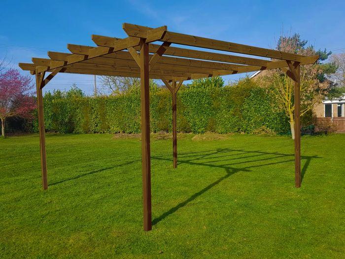 Very Heavy Duty. Wooden Garden Arbour Sits 2 Garden Arbour