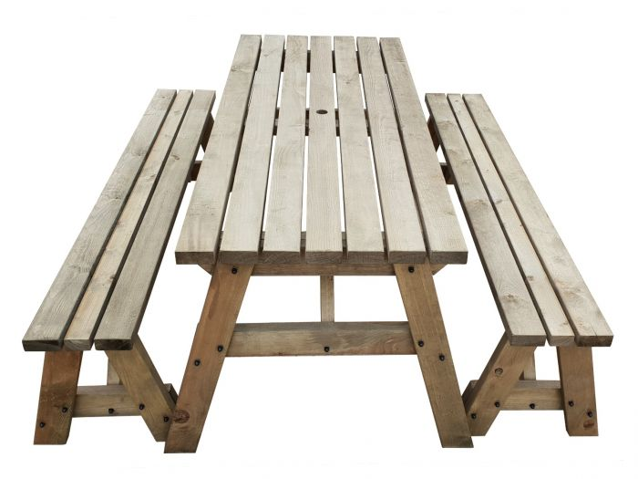 Wooden Picnic Tables Fence Benches, Wooden Bench Outdoor Table