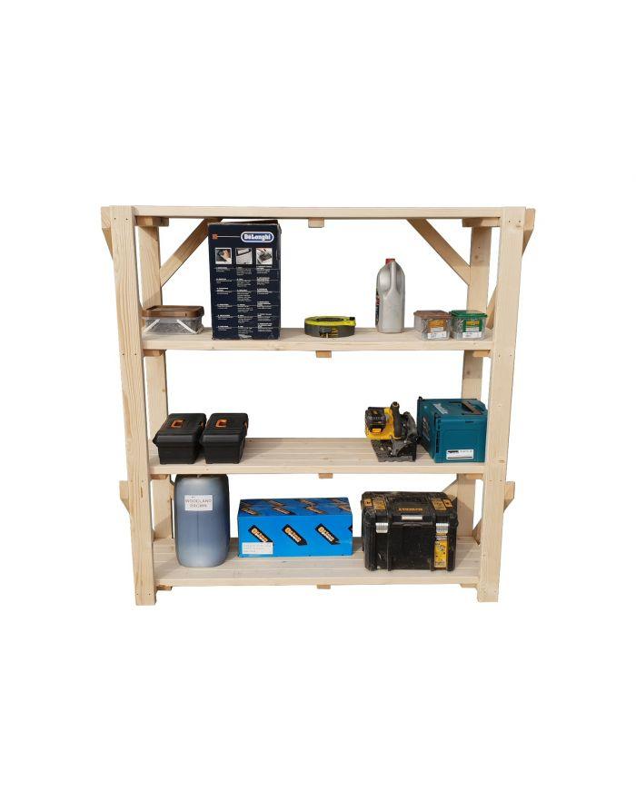 Wooden Acorn Garage Shelving Unit, 4 Tier EXTRA Heavy-Duty ...