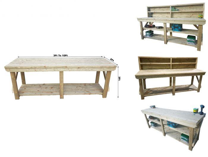 Excellent Wooden Pressure Treated Indoor Outdoor Workbench Andrewgaddart Wooden Chair Designs For Living Room Andrewgaddartcom