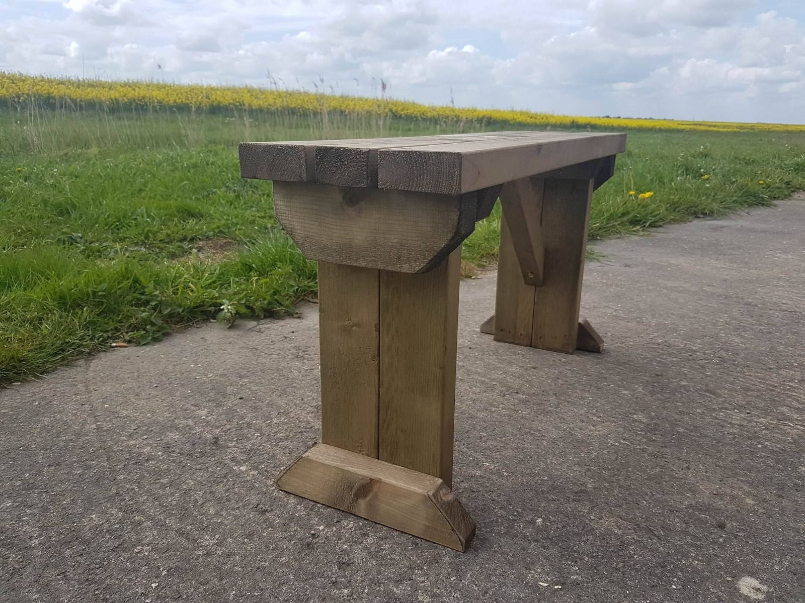 Picnic Bench Hollies Wooden Outdoor Garden Furniture Fence ...