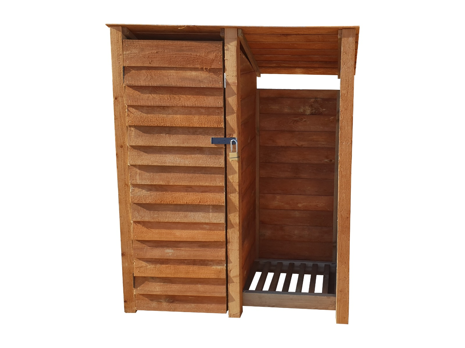 1.49 cubic meters capacity Light Green W-146cm, H-126cm, D-81cm Arbor Garden Solutions Wooden Log Store 4Ft or Brown Natural Brown