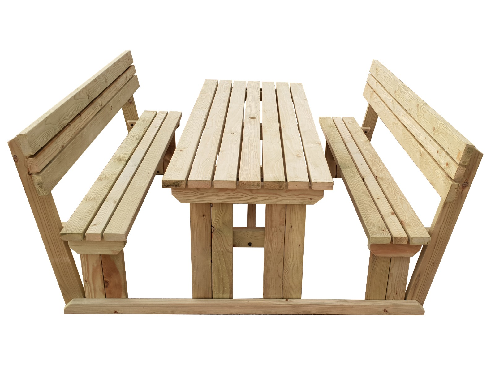 Red Oak Kitchen Table, Picnic Tables With Back Rest Fast And Free Delivery Available Arbor Garden Solutions