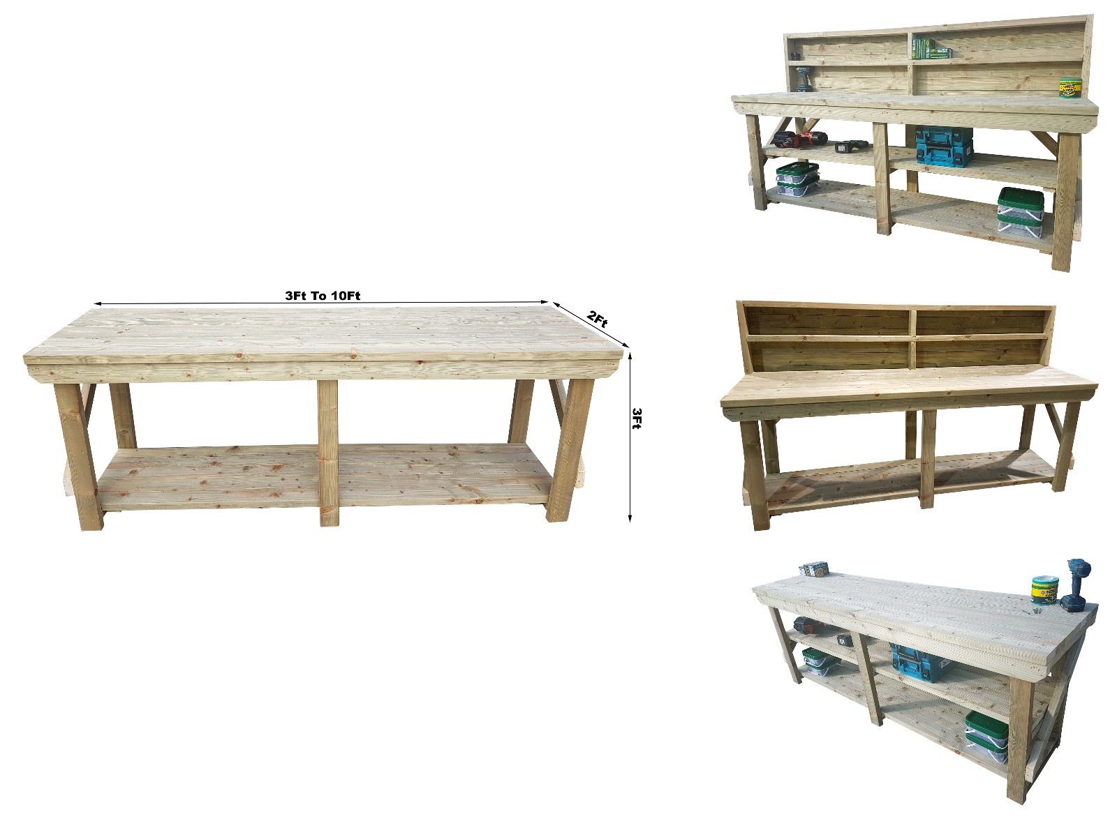 Treated Outdoor Workbenches Affordable Prices Call Now Arbor Garden Solutions